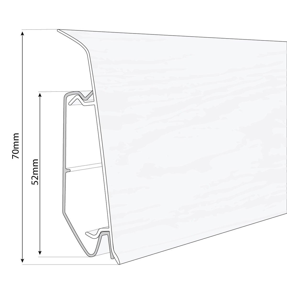 HOLZBRINK Innenecke passend zum Dekor Ihrer Sockelleiste Fussleiste VEO 021 RUSTIKAL EICHE