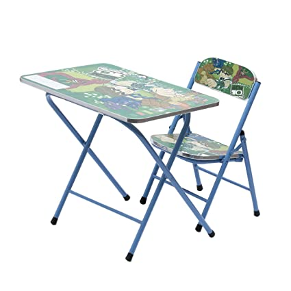 Surprising Powerpak Foldable Portable Wooden Kids Study Table And Chair Set Ben 10 Creativecarmelina Interior Chair Design Creativecarmelinacom