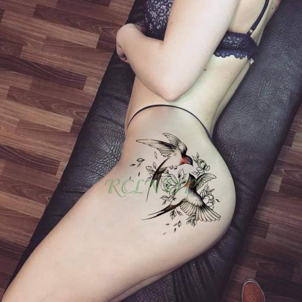 Handaxian 2 Piezas Etiqueta engomada del Tatuaje Cruz ala ángel ...