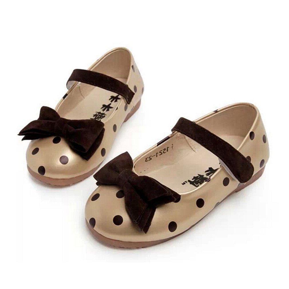 CYBLING Toddler Little Girls Dress Mary Jane Bow Flat Ballet Ballerina Shoes