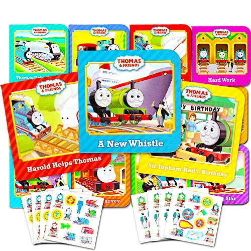 Thomas the Train Board Books Set For Toddlers Babies Kids -- Pack of 12