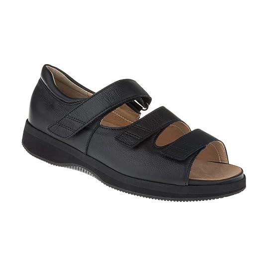 Tessamino Damen Orthopädie Sandale   aus Leder   für Diabetiker & Rheumatiker   Weite L