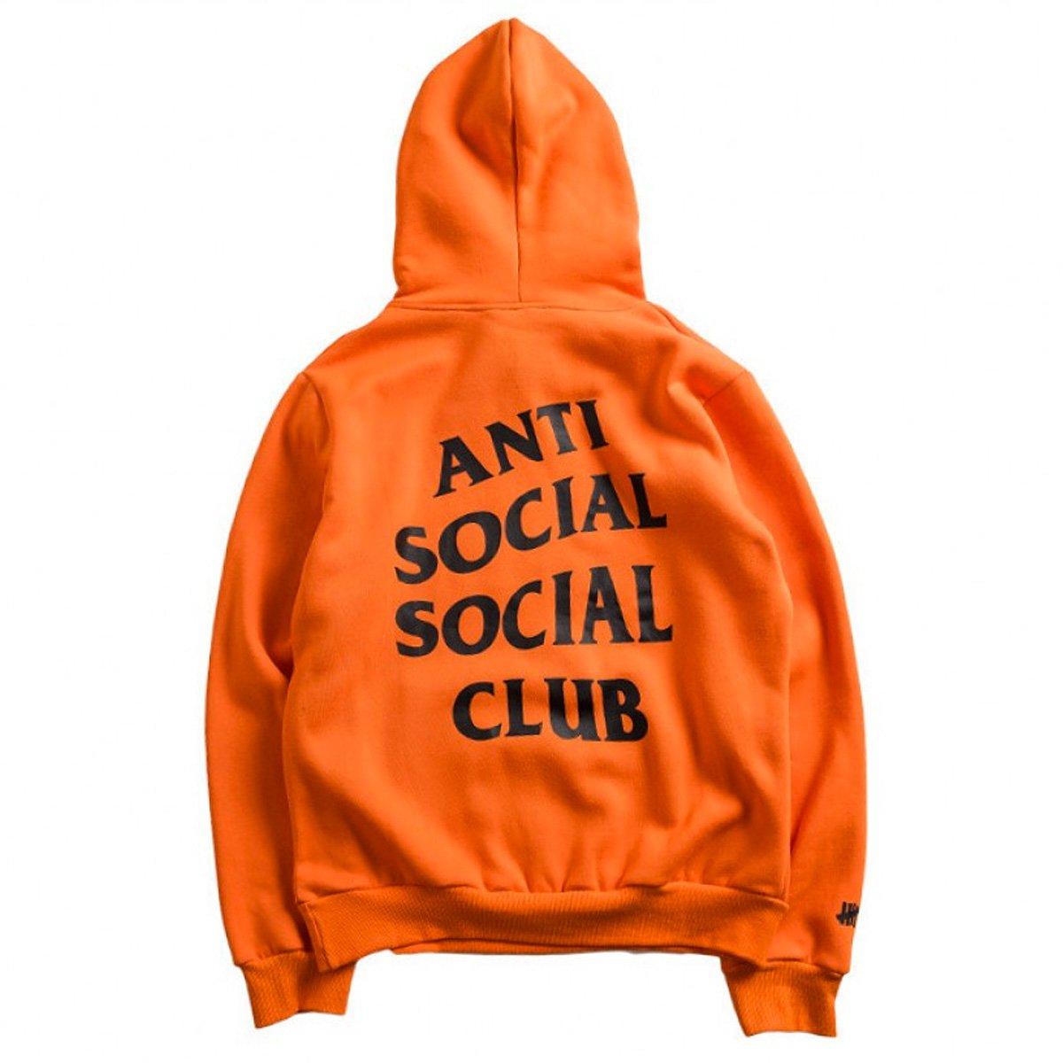 Anti Social Social Club パーカー アンチソーシャルソーシャルクラブ Undefeated PARANOID HOODIE PARANOID-H-0 B07D1LLPRC L|オレンジ オレンジ L
