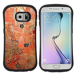 "Pulsar iFace Series Tpu silicona Carcasa Funda Case para Samsung Galaxy S6 EDGE , Rústico Rojo Patrón pintura desgastada"""