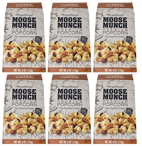 Moose Munch Gourmet Popcorn Christmas Gift Box   Pack Of 6   Christmas Gift Box For Family  Friends  Her  Him And More