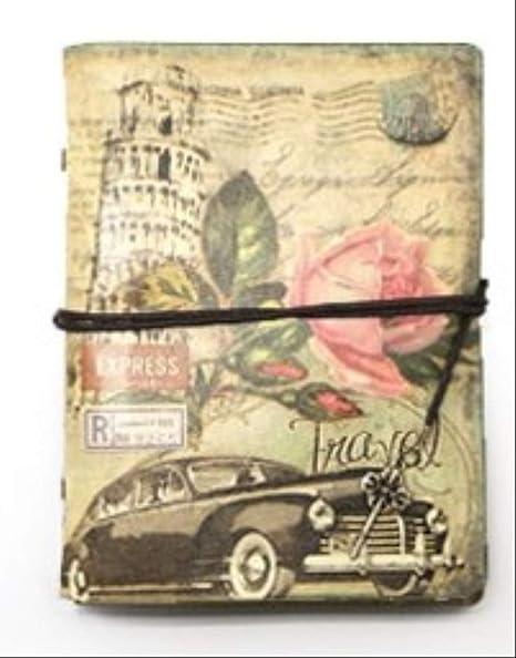 Amazon.com: MCYYY Vintage Stationery Pu Leather Notebook ...