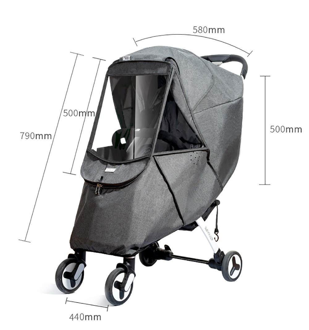Baby Stroller Sun Shade Canopy,Universal Baby Sunshade,Zippered Infant Insect Netting Cover Awning Waterproof and Windproof by ACOMG (Image #8)