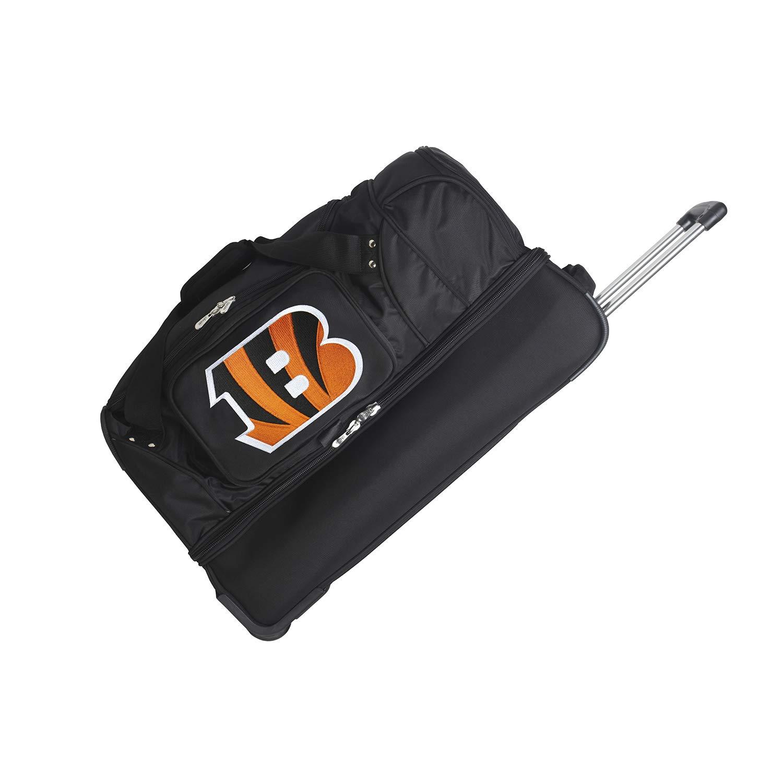 NFL Cincinnati Bengals Rolling Drop-Bottom Duffel Bag, 27-inches