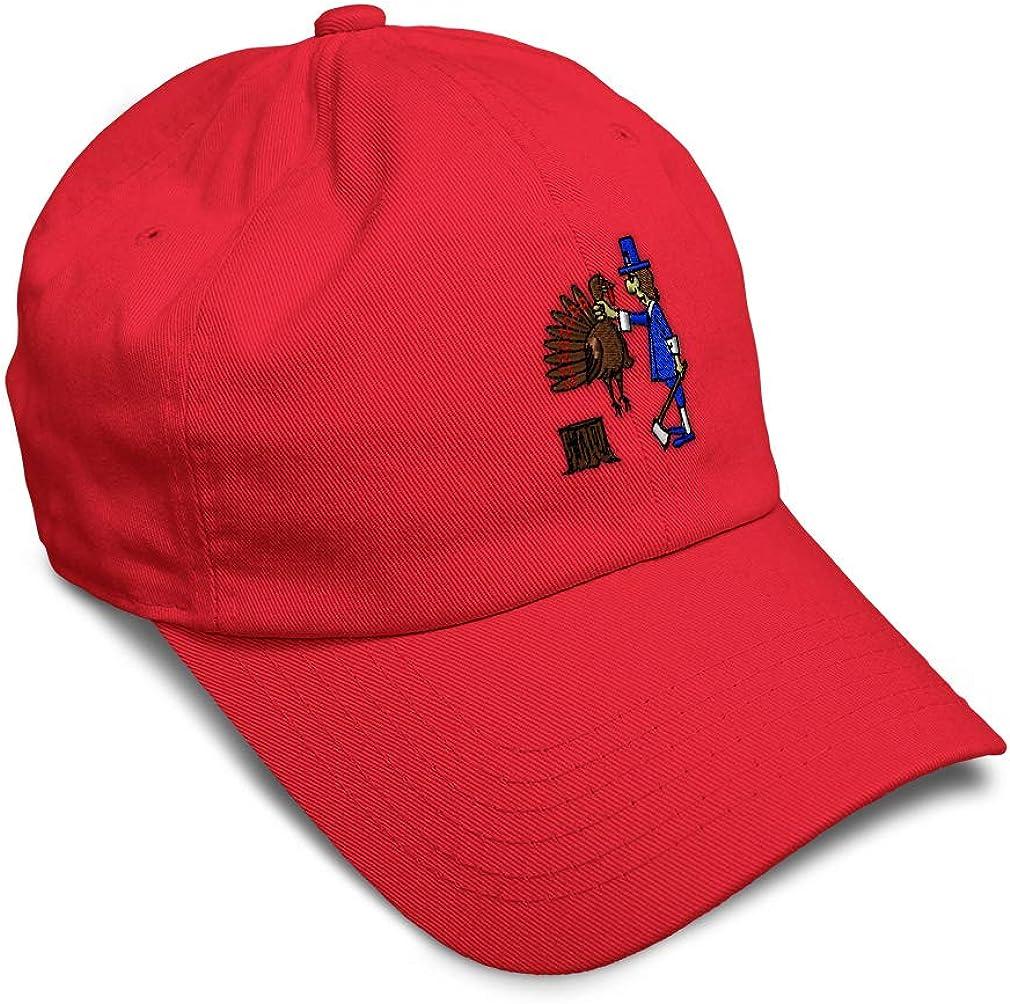 Custom Soft Baseball Cap Turkey Slaughter Embroidery Dad Hats for Men /& Women