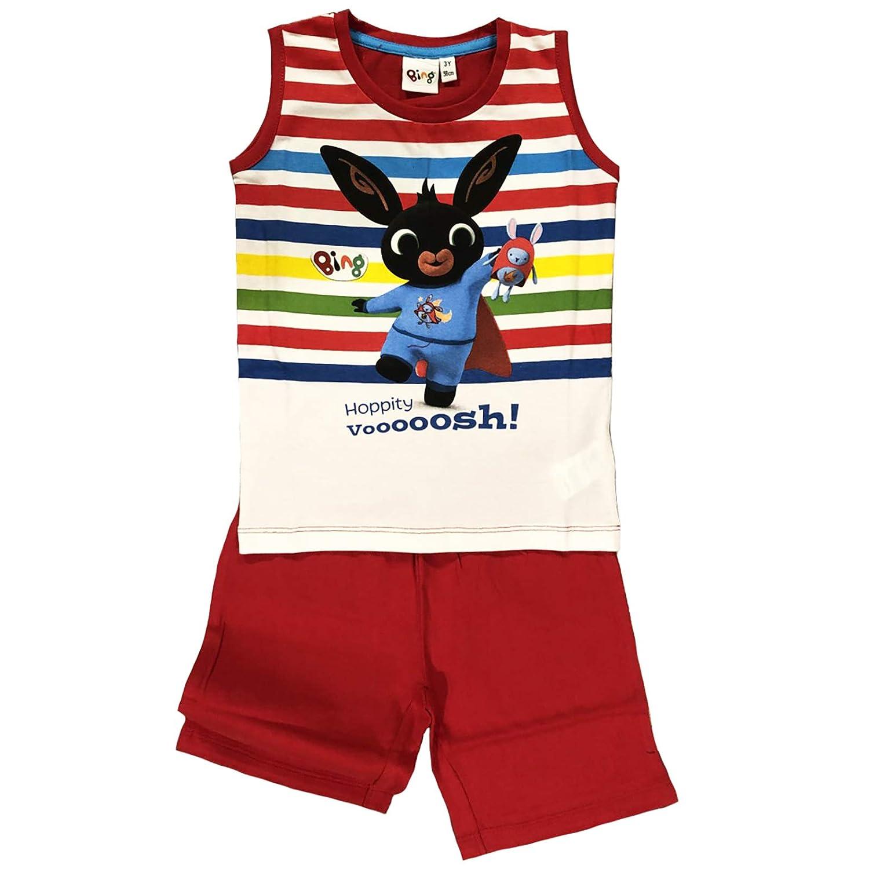 Bing Completo T-Shirt con Pantaloncino Coniglietto Mis 1 2 3 4 5 Anni Estate 2019