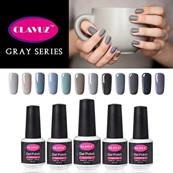 Amazon clavuz gel nail polish 12pcs gray nail polish kit clavuz gel nail polish 12pcs gray nail polish kit soak off uv gel nail lacquer nail prinsesfo Gallery