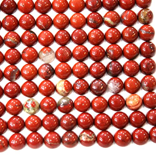 20pcs Coin 6mm Natural Gemstone Cabochons for Jewelry Making Beads Cabs (red (Jasper Coin Pendant Beads)