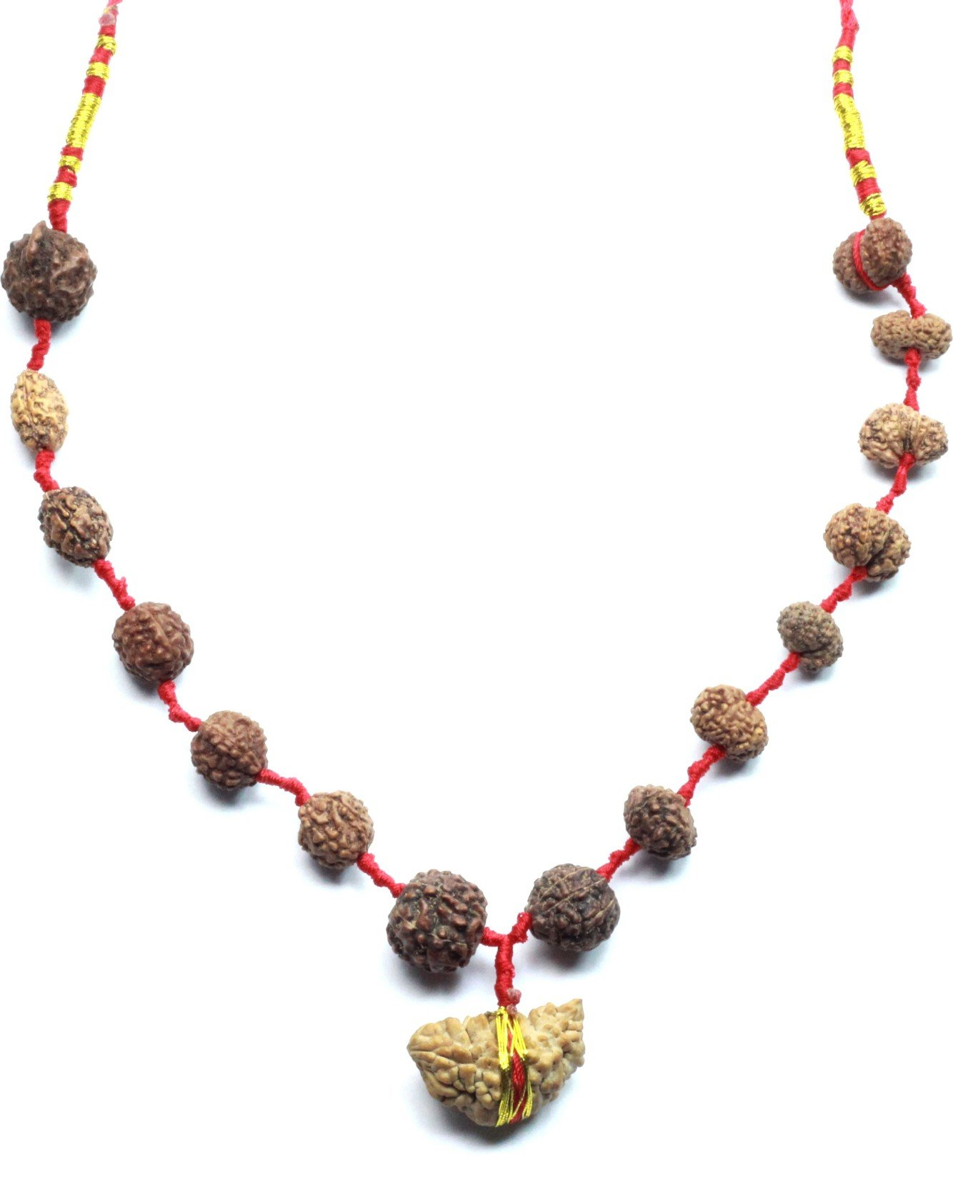 SHIVOHAM 7 Face//7 Mukhi Rudraksha From Nepal Silver Mounted with Certificate of Authenticity