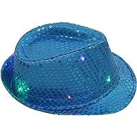 Gusspower Gorra de Fiesta con Lentejuelas y LED