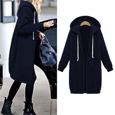 816fe7545c87d Amazon.com  BA outerwear Plus Size 5XL Autumn Winter Jacket Women Coat  Ladies Retro Zipper Up Bomber Spring Hooded Women Long  Clothing
