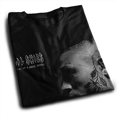 8618e3c8 Amazon.com: JohnJPerez Men Lil Skies Life of A Dark Rose Music Band Tennis  Tee Gift: Clothing