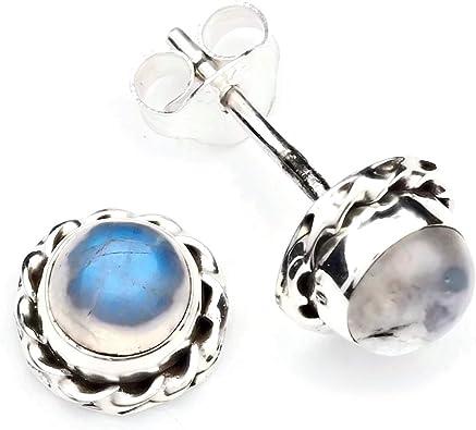 Boucles d/'oreilles argent 925 sterling pierre de lune