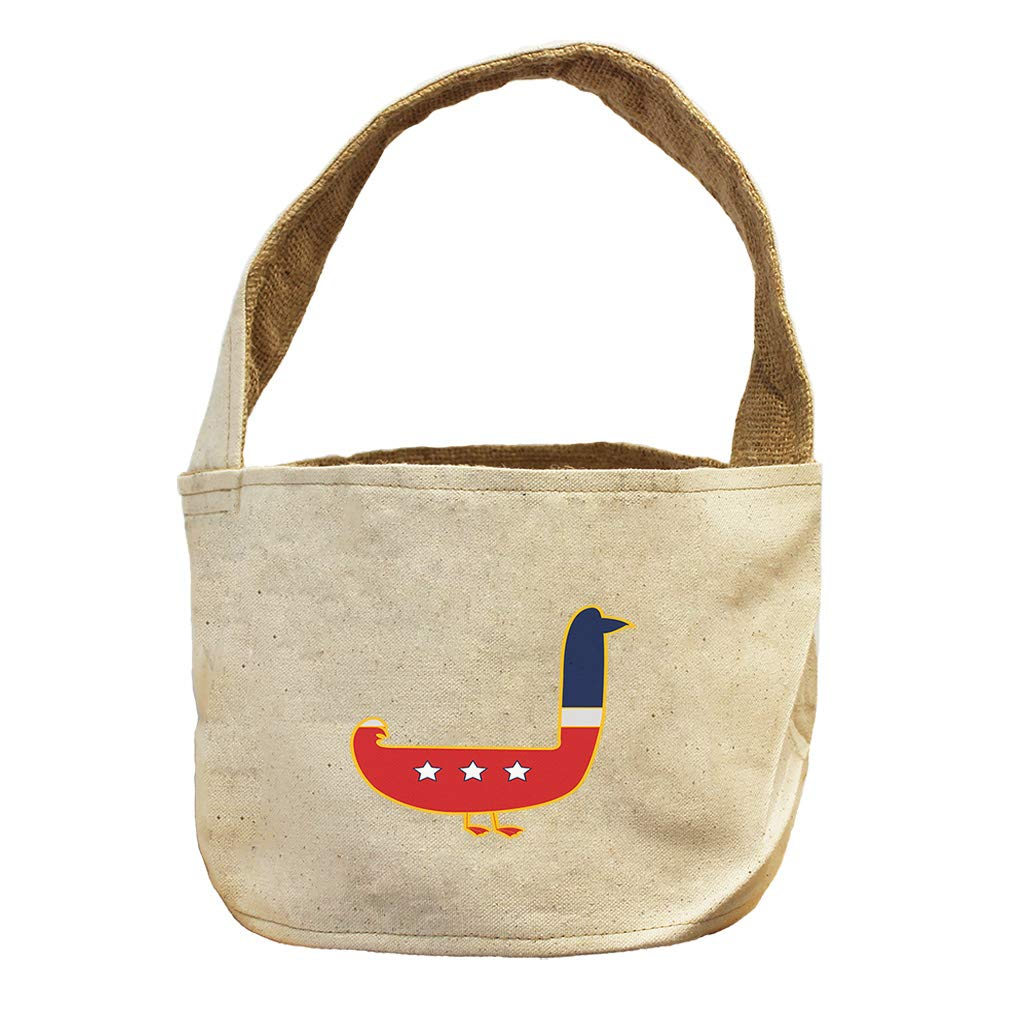 United States Bird Duck Animals Canvas and Burlap Storage Basket