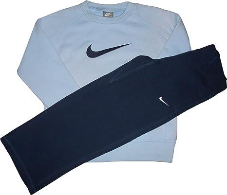 Nike Swoosh Suit. Chándal. Sudadera y pantalón. Little Boys XL=122 – 128 cm 7 – 8 años: Amazon.es: Deportes y aire libre