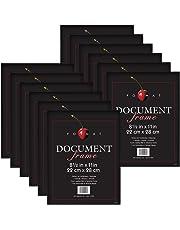 MCS 40957 - Marco de Formato Negro (8,5 x 11 Pulgadas), Color Negro, 12 Unidades, Negro, Paquete de 12 Unidades, 1