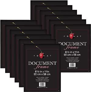 MCS 8.5x11 Inch Format Frame 12-Pack, Black (65640)