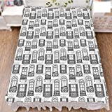 iPrint Bedding Duvet Cover Set 3D Print,Urban Architecture European Windows City Town,Fashion Personality Customization adds Color to Your Bedroom. by 70.9''x78.7''