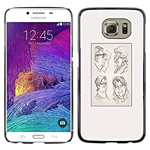 Be Good Phone Accessory // Dura Cáscara cubierta Protectora Caso Carcasa Funda de Protección para Samsung Galaxy S6 SM-G920 // portrait character drawing poster