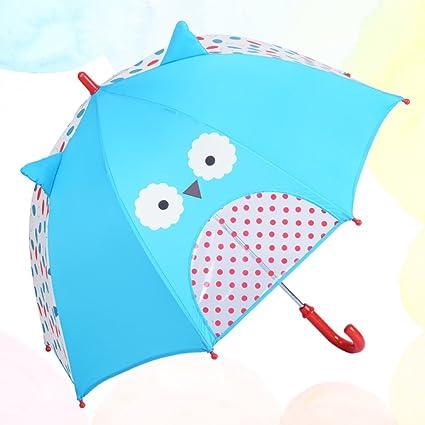 Paraguas plegable niños Mujer de dibujos animados Súper ligero Manija recta Princesa Bebé Jardín de infantes
