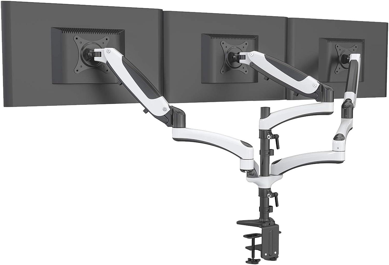 Hftek Monitorarm Triple Halterung Halter Tischhalterung Für 3 Bildschirme Von 15 27 Zoll Mit Vesa 75 100 Gm138dw Küche Haushalt