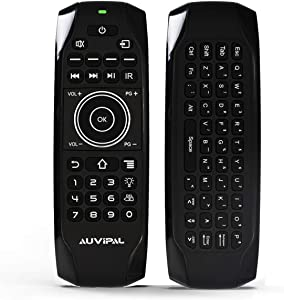 AuviPal G9F Backlit Bluetooth Replacement Remote Control with QWERTY Keyboard and 11 IR Learning Programmable Keys for Streaming TV Stick and Nvidia Shield - No Voice Function