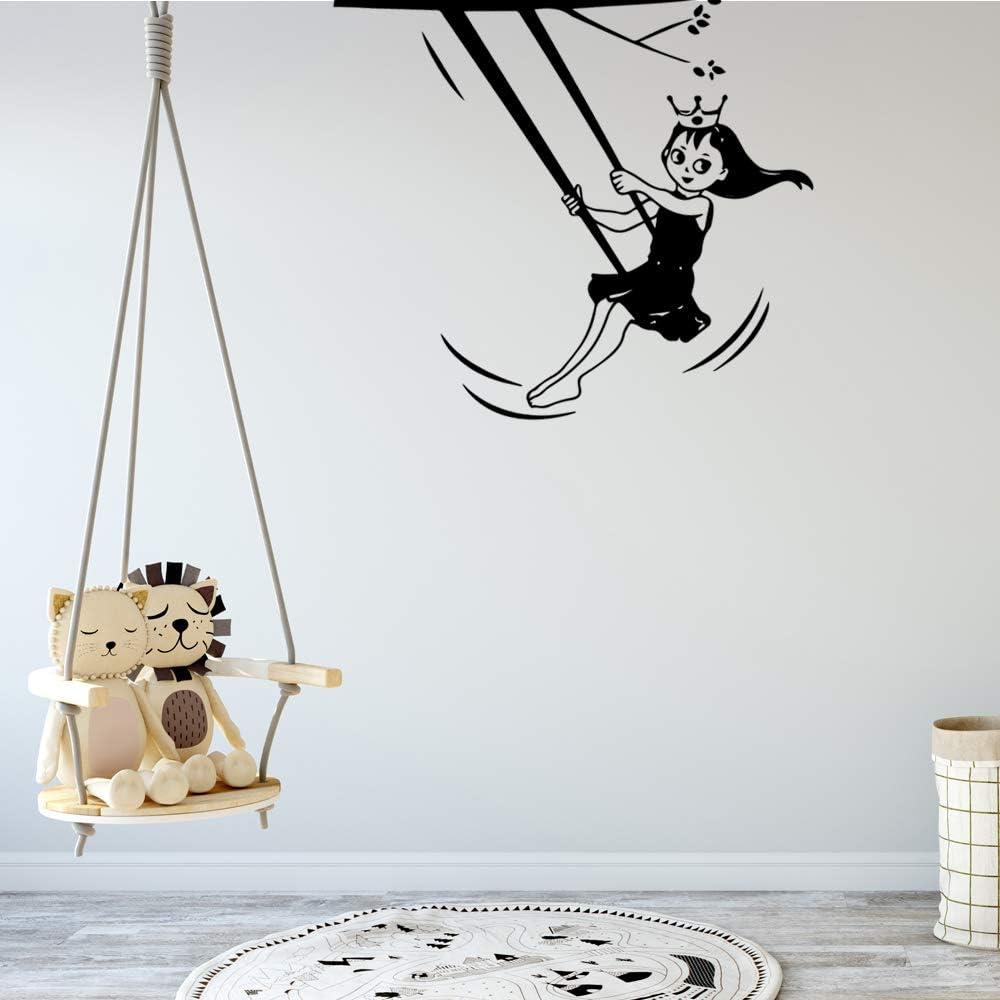 BJWQTY Pegatina de Princesa Mural de Vinilo removible Cartel para niños habitación Sala de Estar hogar Decoración de Pared Arte Mural Envío de la Gota