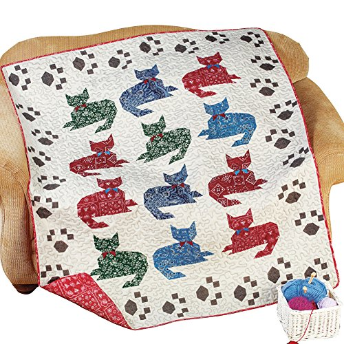 Cat Meow Quilted Throw Blanket