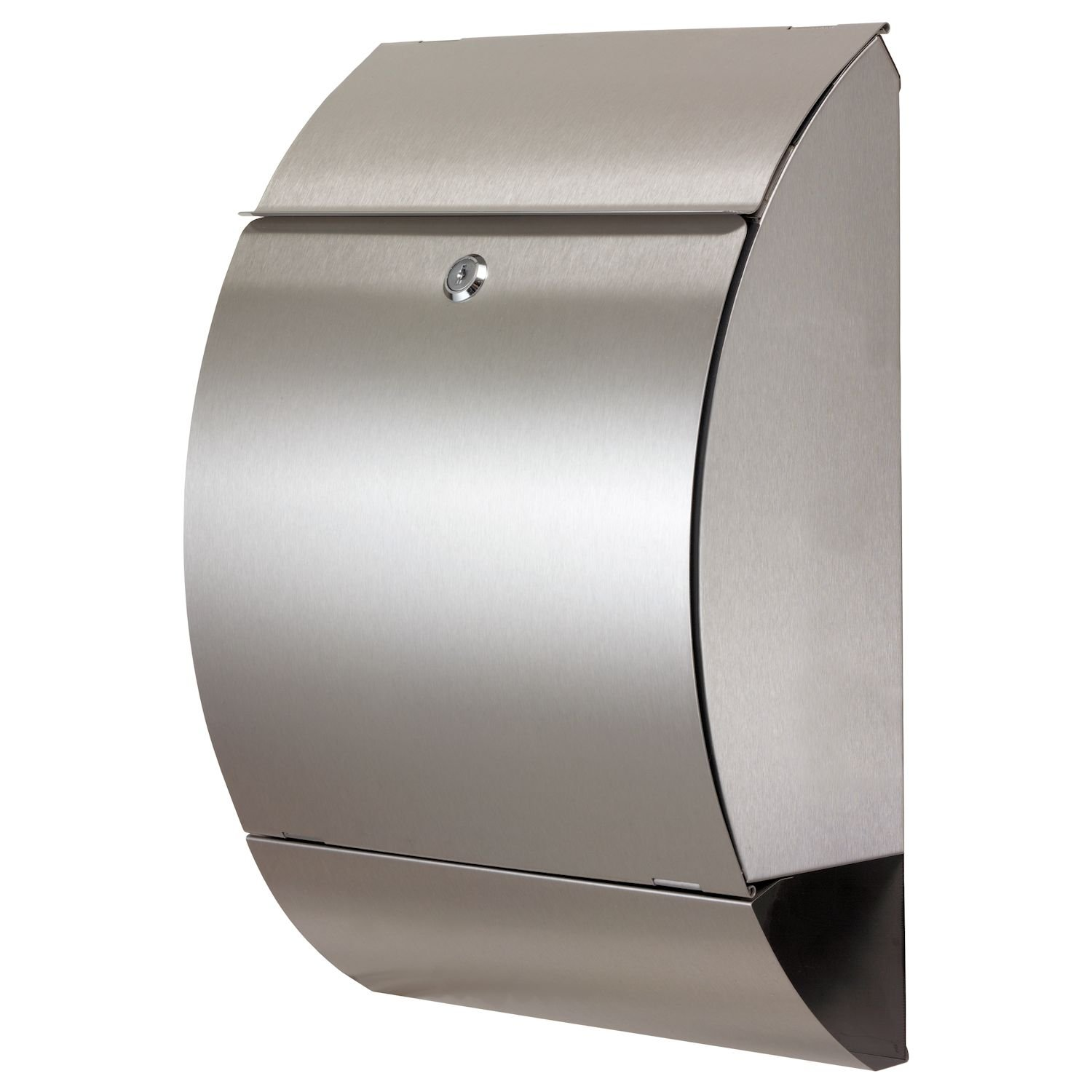 Zelsius® - Letter Box with Newspaper Holder, Stainless Steel, Wall Mounted