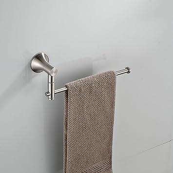 Amazoncom Beelee Bathroom Kitchen Towel Rack Holder Swivel Bars