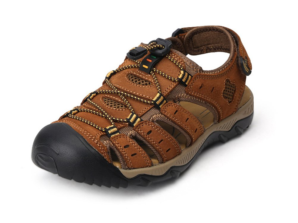 ISHOP-Shoes Men's Sports Sandals Trail Outdoor Water Shoes Closed-Toe Sandal Waterproof Quick Dry B07C1YL3VY 7.5 B(M)US=EU/FR 40 Light Brown