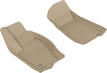 Kagu Rubber Tan 3D MAXpider Complete Set Custom Fit All-Weather Floor Mat for Select Jeep Grand Cherokee Models
