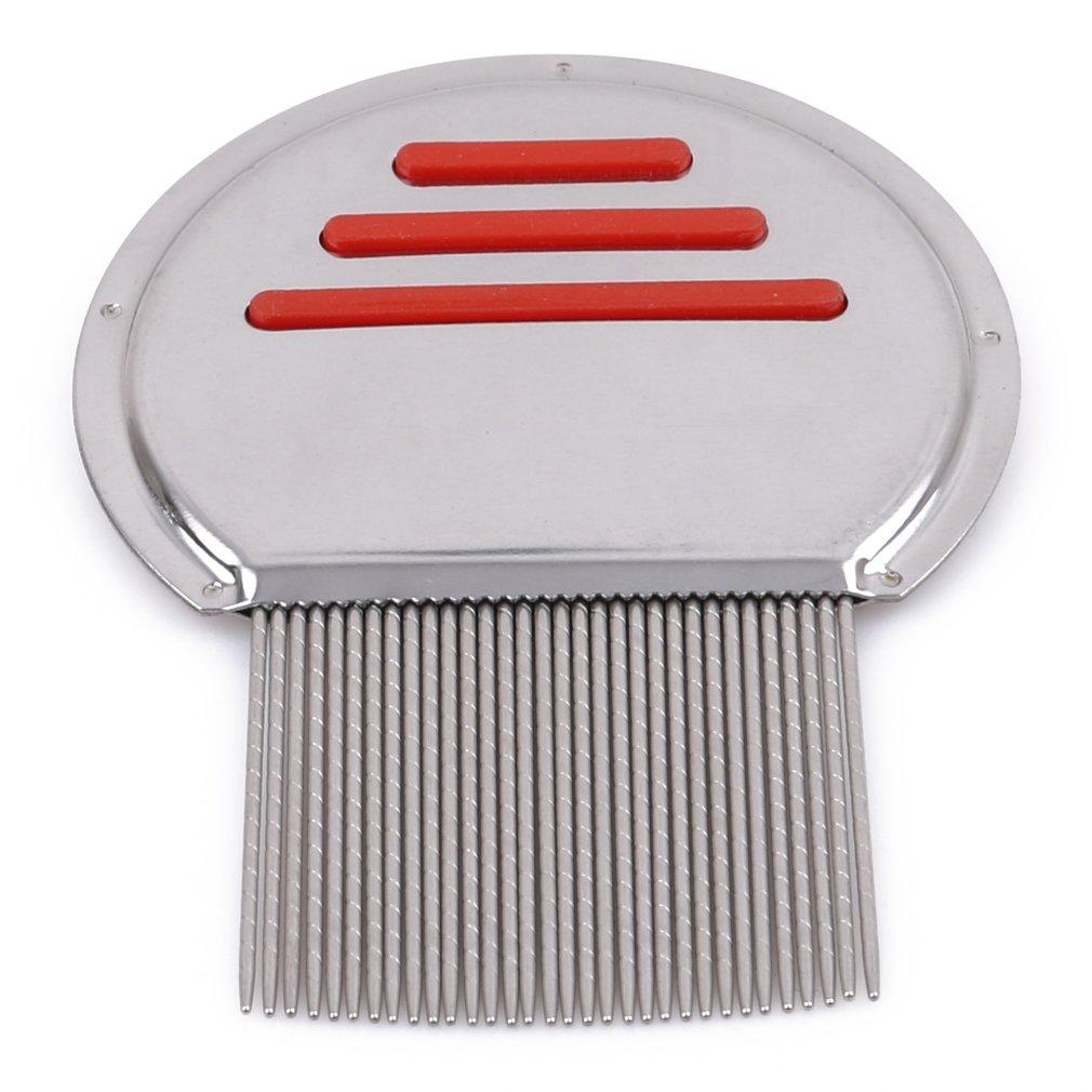 VWH Aux Puces a Dents Fines Propre Peigne Chien Chat Brosse a Cheveux Soft Protection Steel Petit (Bleu)