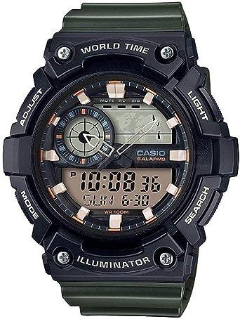 Casio Reloj Analogico-Digital para Hombre de Cuarzo con Correa ...