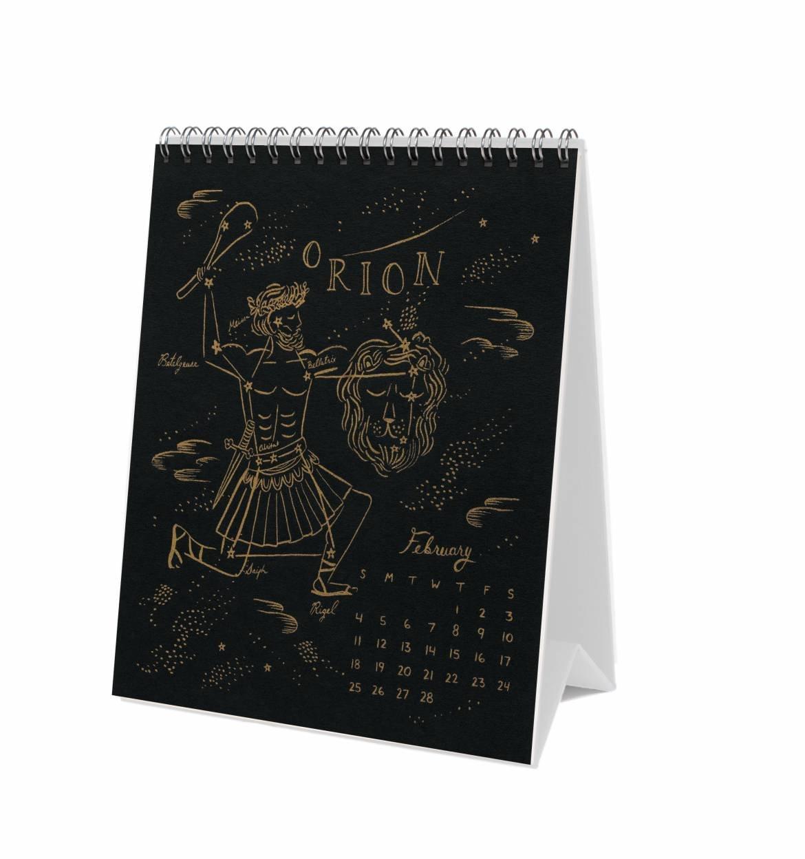 Rifle papel Co 2018 escritorio calendario constelaciones ...
