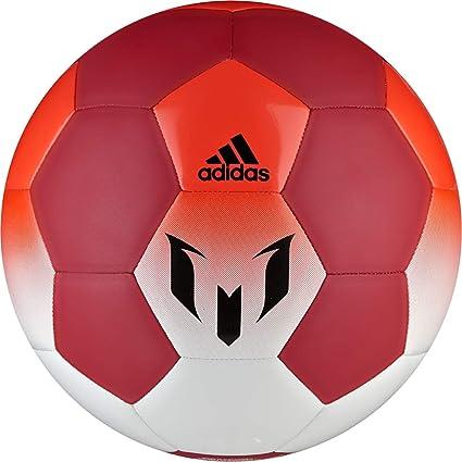 adidas Q1 Balón de Fútbol Línea Messi, Hombre, Blanco (Blanco/Rojo ...