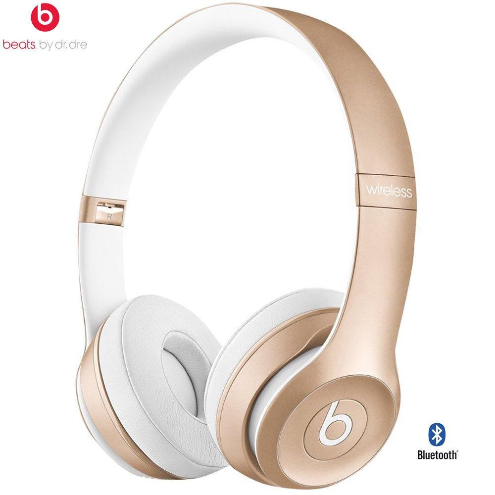 Beats By Dre Solo2 Wireless On-Ear Headphone, MHNM2ZM/A - (Certified Refurbished) (Gold) by Beats