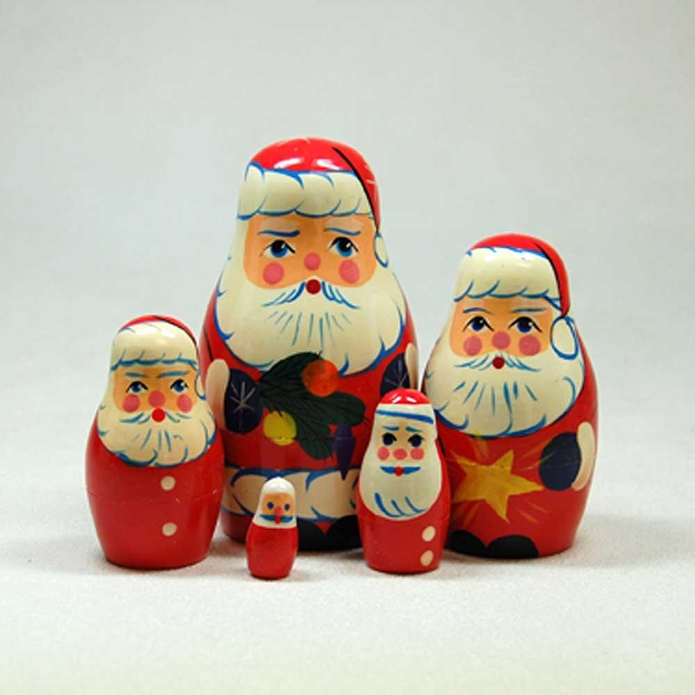 Santa Claus Five Part Nesting Doll