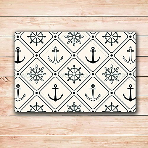 Black-and-White-Compass-Door-Mats-Inside-Rubber-Doormat-236L-x-157W