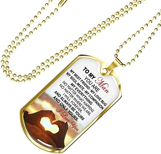 Fiancee Girlfriend I Love You Quote Heart Pendant Necklace Custom Gifts from Boyfriend Christmas Birthday Gag for Girlfriend