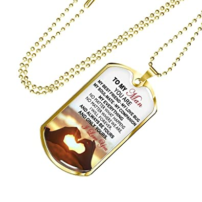 Thisyear To My Man I Love You Dog Tag Personalized You Are My Best