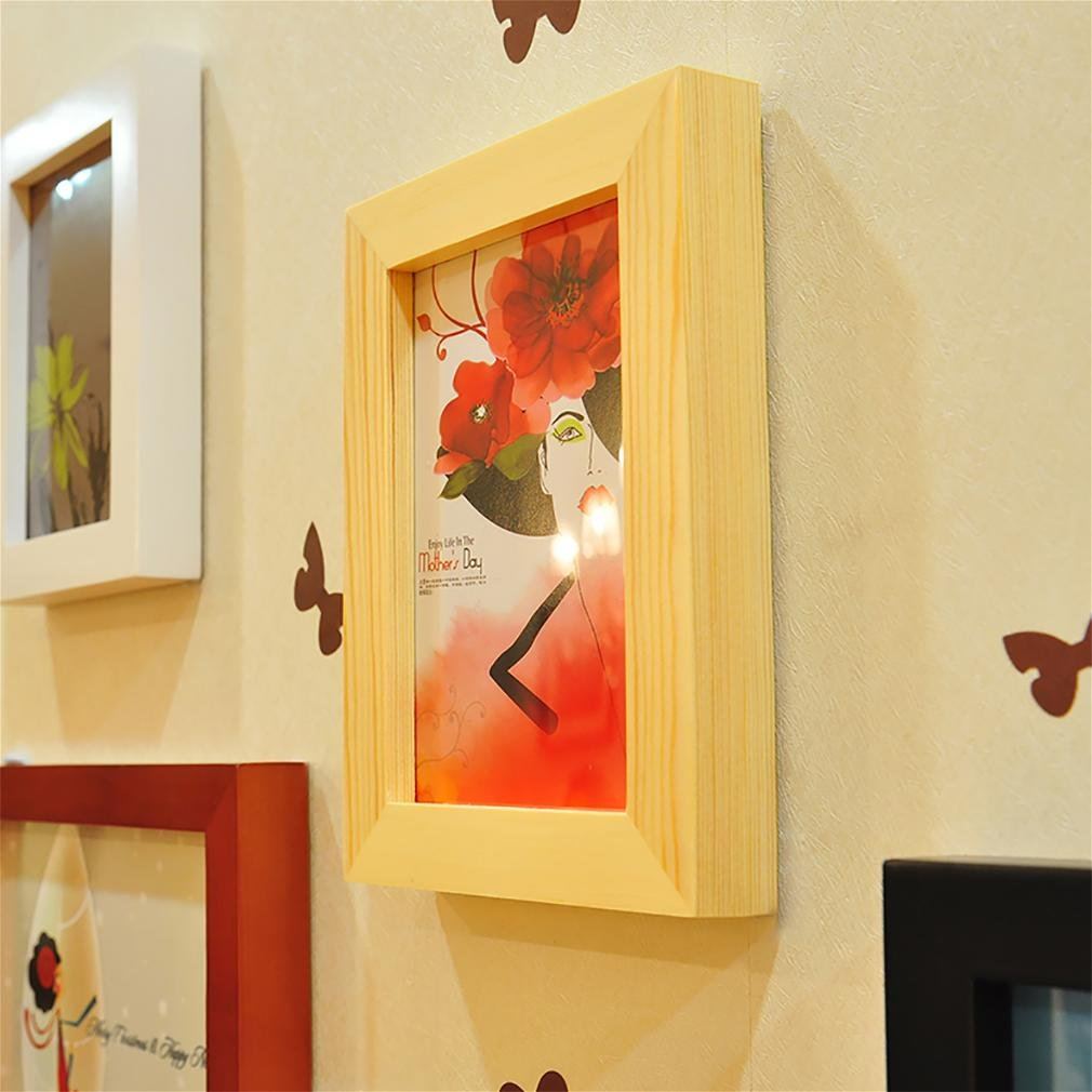 WillST Multi Picture Photo Frames Home Wall Decoration Wooden Frame Set Of 13pcs Picture by Unknown (Image #4)