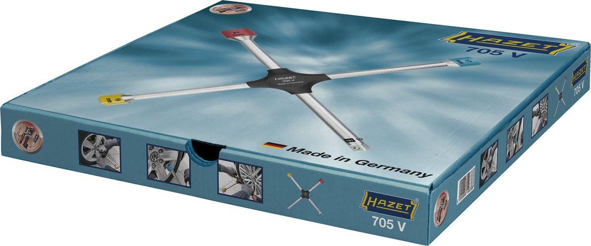 HAZET Cl/é en Croix 705V ∙ Profil /à 6 pans ext/érieurs ∙ Longueur/ 380 mm Multicolore