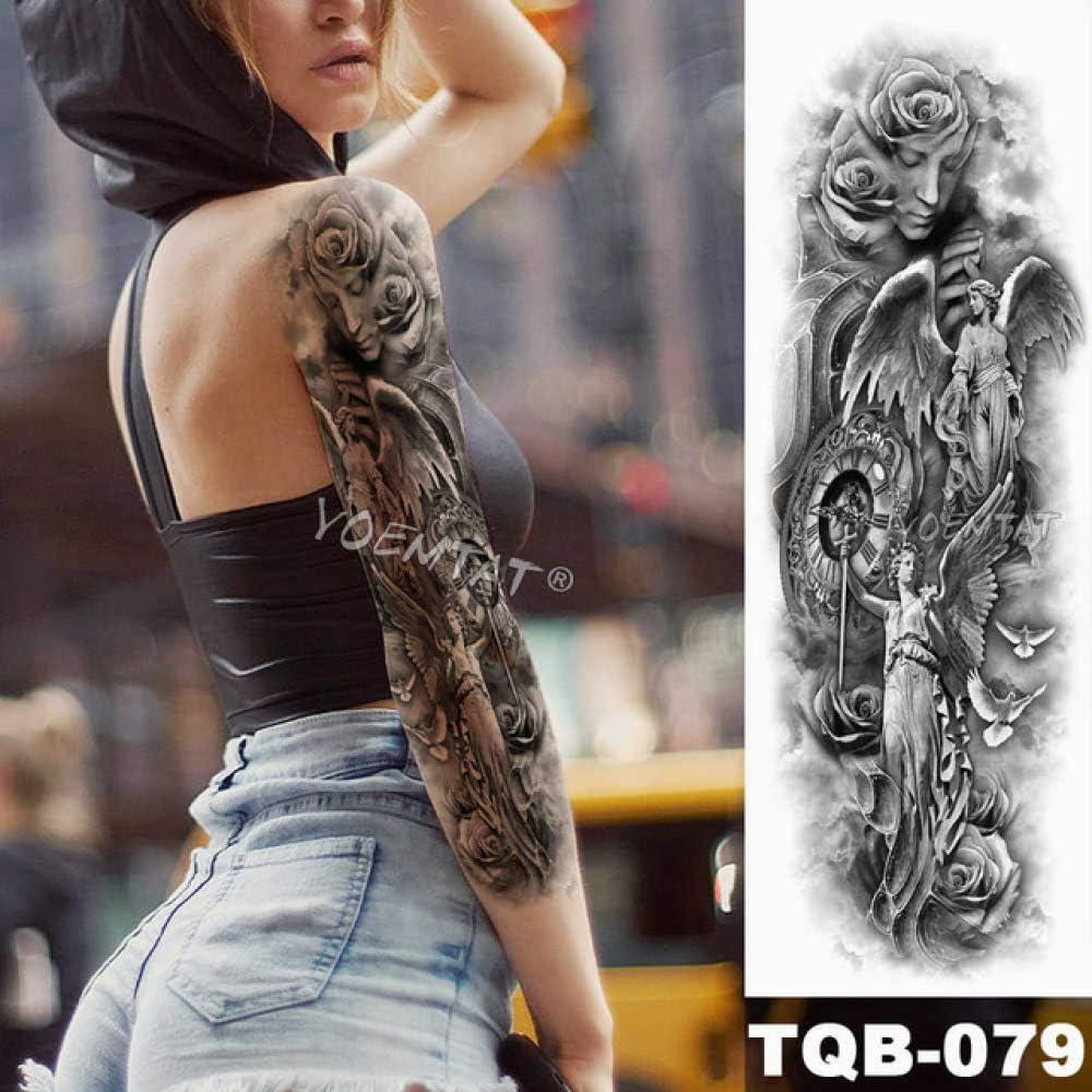 Tatuaje de brazo grande Bosquejo Tigre León Etiqueta engomada del ...