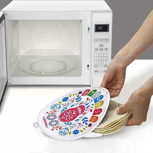 Tortilla Bolsa de tela aislante 30 cm, apta para microondas, para microondas durante 45 segundos, hasta 1 hora