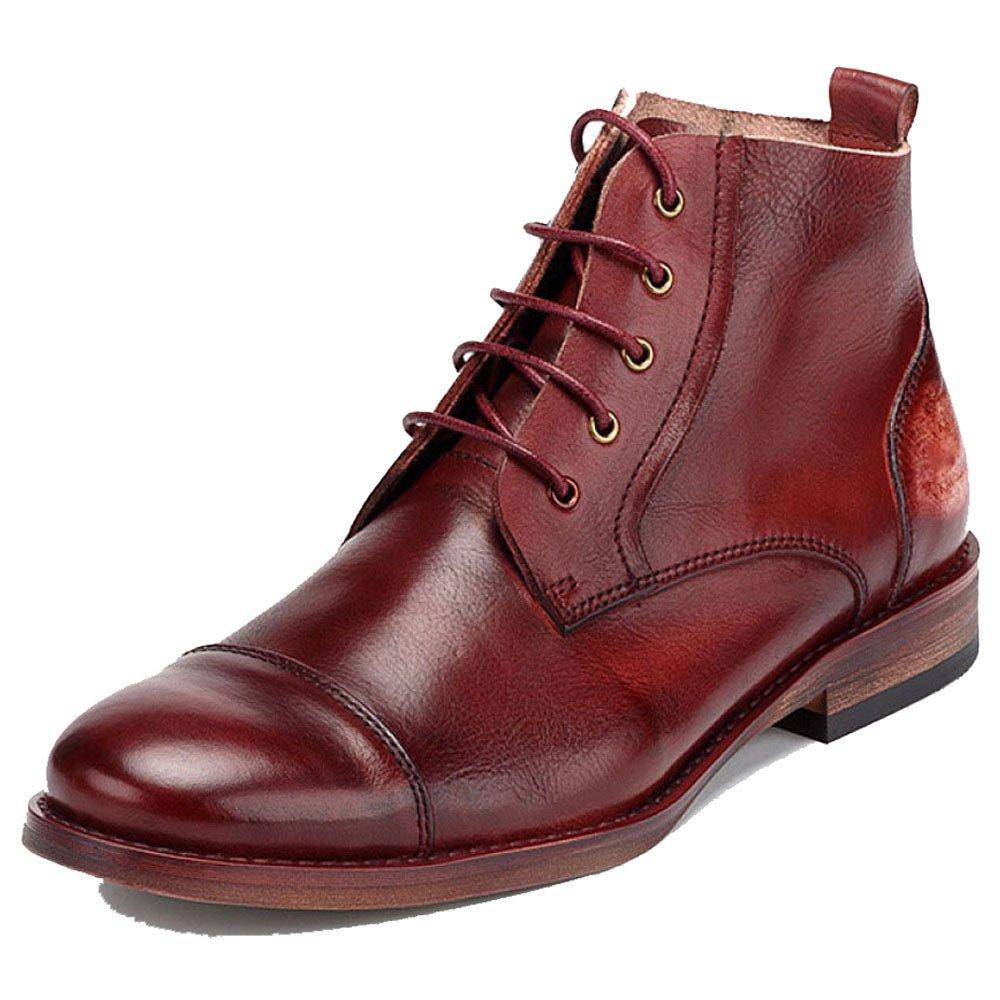 ZPJSZ Männer Spitze England Martin Stiefel Mode Lässig Jugend Lederstiefel